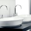ANFORA 3 Loch Waschtischarmatur (Doppelwaschtischanlage) mit Excenter Garnitur, Chrom