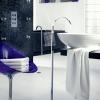 ANFORA Boden Standauslauf für Waschtischanlage oder Wannenbefüllung, Chrom