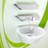 BENTO Aufputz Wandarmatur für Waschschüsseln, Chrom-weiß
