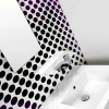 BENTO Aufputz Wandarmatur für Waschschüsseln mit Wasserfallauslauf, Chrom-weiß