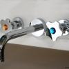 CARTOON Unterputz Waschtischarmatur oder Küchenarmatur mit farbigen SWAROVSKI Kristallen, Chrom