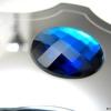 CARTOON Griff mit blauem SWAROVSKI Index, Chrom