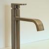 1 Loch Küchenarmatur BROOKLYN, Auslauf schwenkbar, massiv Edelstahl gebürstet, auch poliert lieferbar.