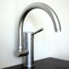 1 Loch Küchenarmatur EDITIONsylt, Auslauf schwenkbar, matt-chrom.