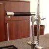 1 Loch Küchenarmatur ZANSIBAR, mit Auszugsbrause, höhenverstellbar, chrom.