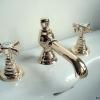 EDWARDIAN 3loch Waschtischarmatur mit CLASSIC Auslauf, Gold I.
