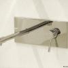 Unterputz Wandarmatur EILEEN-Xmini mit rechteckiger, verchromter Grundpaltte für Waschschüsseln, Chrom