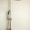 Aufputz Duschanlage mit separater Handbrause und 230mm Kopfbrause, EILEEN, Chrom