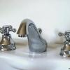3 Loch Waschtischarmatur mit Excenter Garnitur LE PETIT, Chrom
