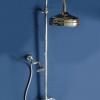 Aufputz Duschanlage mit 200mm Kopfbrause und separater Handbrause LE PETIT, Chrom