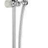 Duschstange 60cm mit Handbrause und Schlauch, NEW BOROMES, Chrom, mit Swarovski Elements Kristallen