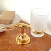 Seifenschale mit Becher, Gold