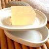 Keramik Seifenschale, 2 teilig, weiß