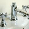 3Loch Waschtischarmatur mit Excenter Garnitur OBERROI, Chrom