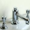 3Loch Waschtischarmatur mit Excenter Garnitur OBERROI II, Chrom