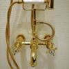 Aufputz Wannenarmatur mit Handbrause OBERROI, Gold II