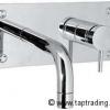 PLAN Unterputz Wand Waschtischarmatur mit rechteckiger Grundplatte und Unterputz Monatgekasten, Chrom