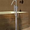 Thermostat Badewannenrand Armatur zur Montage auf dem Fußboden, Chrom
