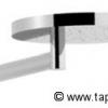 PLAN Kopfbrause 200mm mit Wandarm, Anschluß von unten, Chrom
