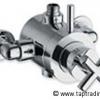 Aufputz Thermostat TAVUS-X, schwere Ausführung für Ständerbrausen, chrom, Einzelstück, Nr. TT00ST00000-199