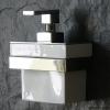 Design Wandseifenspender, weiße Keramik mit verchromtem Wandhalter, TT00STRUBI
