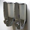 Doppelseifenspender zur Wandmonatge, Kunststoff verchromt, TT00OEG