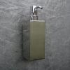 quadratischer Seifenspender zur Wandmontage, messing verchromt, TT00AHBA09514