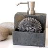Seifenspender mit Schwammfach im Naturstein Look, TT00AHCC10276