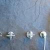 TAVUS 4 Loch Unterputz Badewannearmatur ohne Auslauf, Chrom