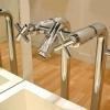 TAVUS Badewannenrand Standarmatur zur Monatge auf dem Fußboden, Chrom