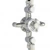 Aufputz Thermostat WINDSOR mit 2 Auslässen für Kopfbrause und Handbrause, Chrom. TT00WCR1850.2CR-1245