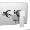 WATERSTIK Unterputz Waschtischarmatur mit Chromplatte, Chrom