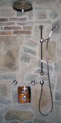 Unterputz Thermostat Duschanlage EDWARDIAN, Silber-Nickel. Bayreuth-Deutschland